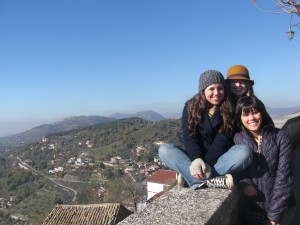 Me and my friends Anna and Ashley in the countryside near Rome, Italy.